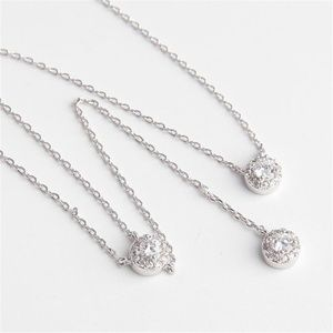 New Henri Bendel Pave Halo Crystal Silver Necklace